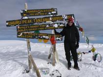 Susan Atop Mt. Kilimanjaro
