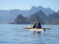 BAJA KAYAK: A calm day in the Sea of Cortez