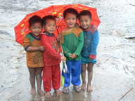 Laos Boys Umbrella