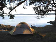 Secluded Island Campsites